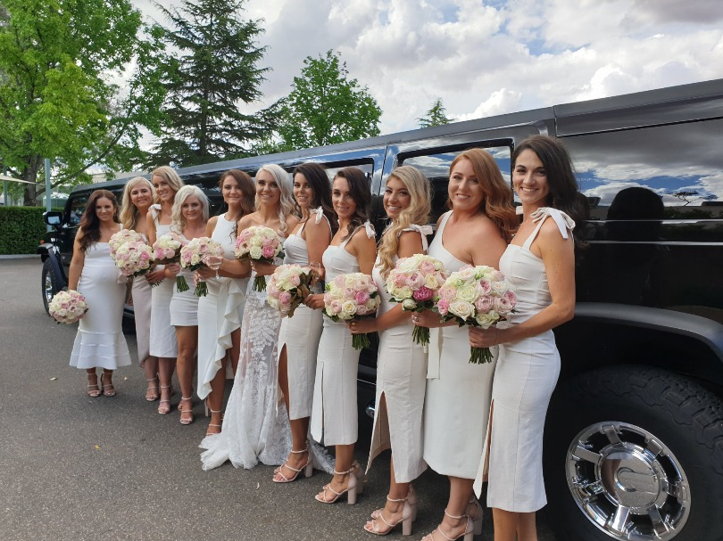 Why rent or borrow 3 cars for your wedding when you can all party in one stretch limo? Fun Fun Fun